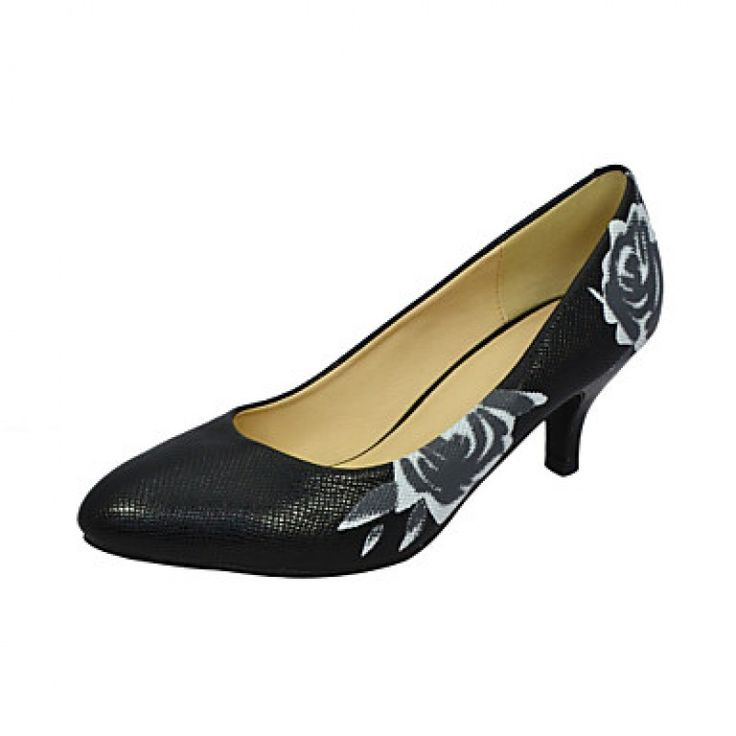Gorgeous Leatherette Stiletto Heel Pumps With Flower Party / Evening Shoes Nz only at NZ$50