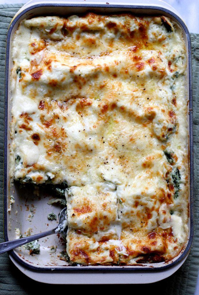 White Spinach Lasagna