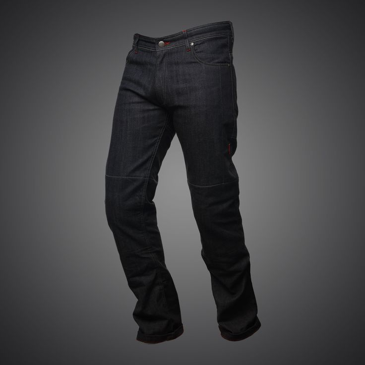 Cool Black | 4SR kevlar motorbike jeans Cool Black in classic style, with patented inside pocket! |  These motorcycle jeans are made of 14 ounce denim reinfor