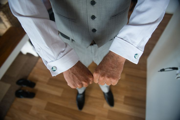 Kombi cufflinks a gift from the bride to the groom Wedding detail Stradbroke Island Photography