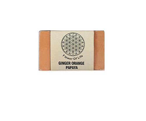 Buy Flower of Life-Handamde Natural Ginger Orange Papaya Soap Online at Low Prices in India - Amazon.in