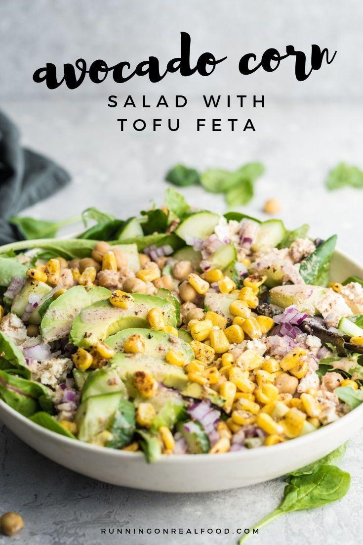 Avocado Corn Salad With Lime Almond Dressing