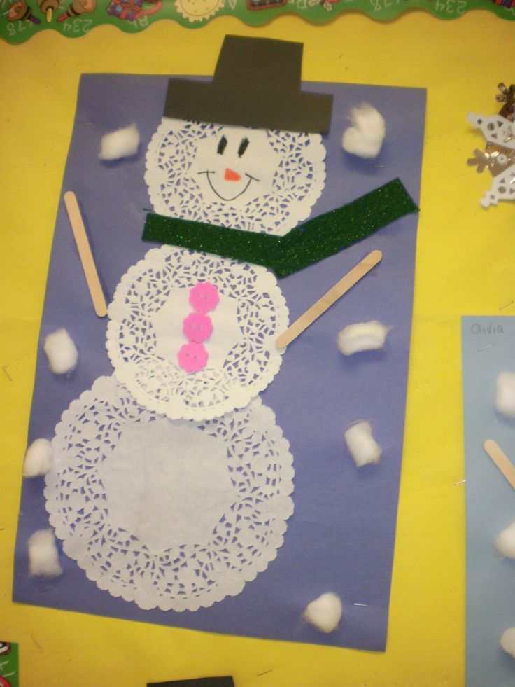 preschool winter crafts ideas snowman craft kindergarten 5273