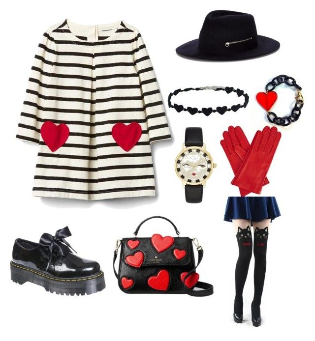 AN DA's style #8 by an-da-i on Polyvore featuring polyvore, fashion, style, Dr. Martens, Kate Spade, Larose, Gizelle Renee and clothing