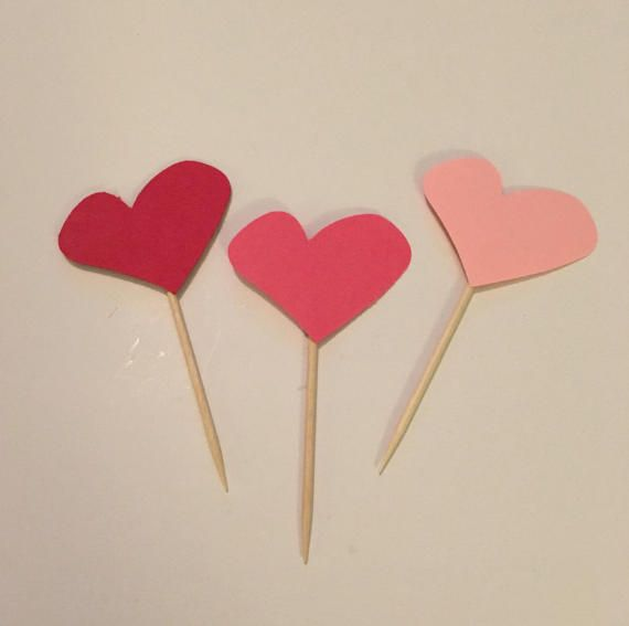 Heart Party Picks. Mix & match pick your colors by AllAboutTheSnax