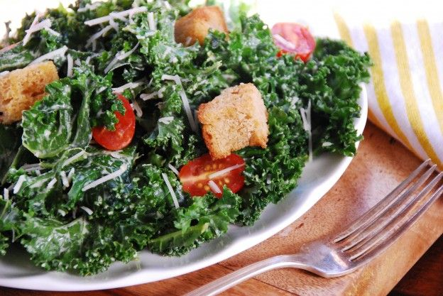 Zesty Kale Caesar: This is the holy kitchen trifecta, as far as I'm concerned: simple, delicious, and nutritious. If you're feeling all gourmet about it, top with some homemade croutons or even a little crumbled nitrate-free natural bacon. - See more at: http://www.simple-balance.ca/2014/11/zesty-kale-caesar-salad/#sthash.e4fhKw2I.dpuf
