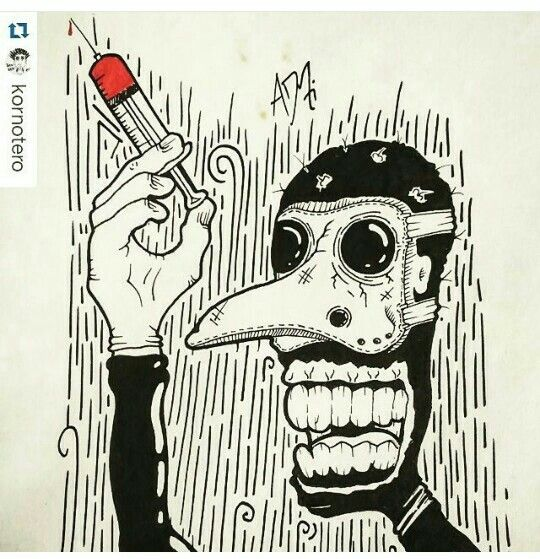 Doctor / dark / Drawing / Dibujo / Black Marker / doodle