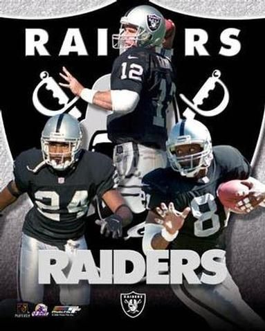 2000 Oakland Raiders Big 3: Rich Gannon #12, Charles Woodson #24, and Tim Brown #81.