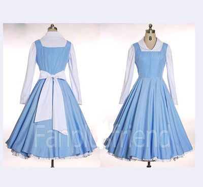 Beauty and The Beast Belle cosplay costume Halloween Custom made on eBay!