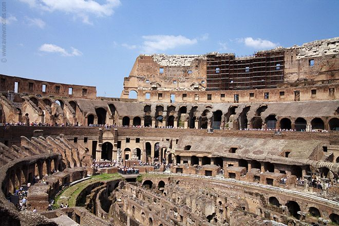 When Events Were Held In The Colosseum, The Upper Levels