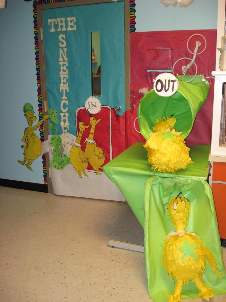 Crystal's classroom door......Dr. Seuss...........Sneetches  Star on machine......