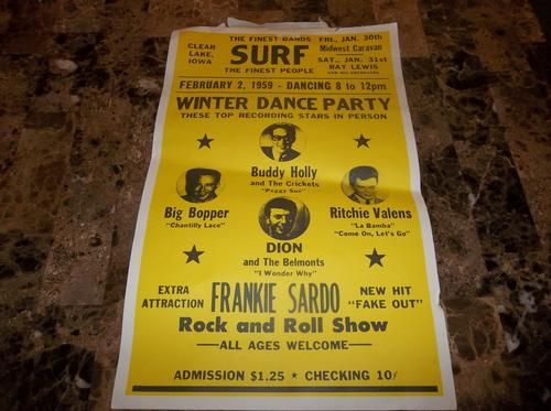 buddy holly crash sight | NA » Found a Buddy Holly poster from his final concert for $.25! need ...
