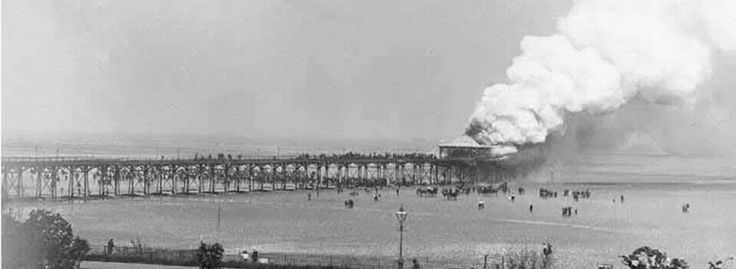 Cleethorpes pier on fire