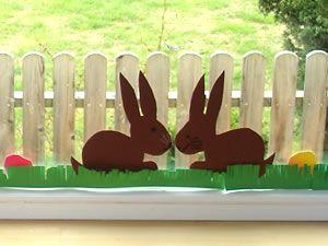 * Maak deze hazen voor op het raam, gras eieren bloemen enz.