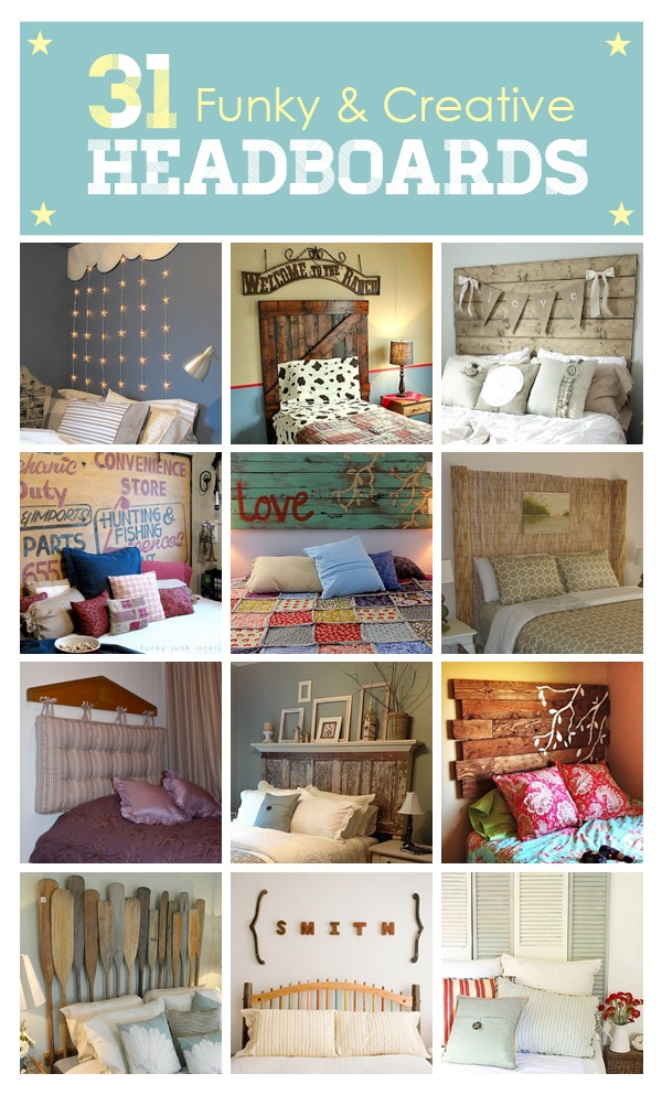 31 Funky & Creative DIY Headboards