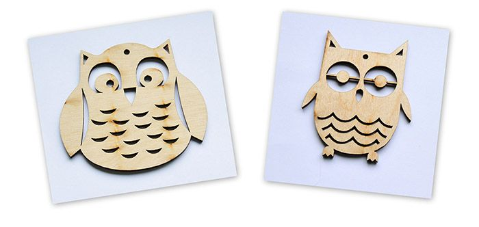 Zawieszka Sowa / wooden owls for decoupage