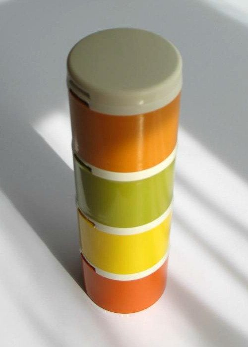 Vintage Tupperware Spice Tower Stackable Containers