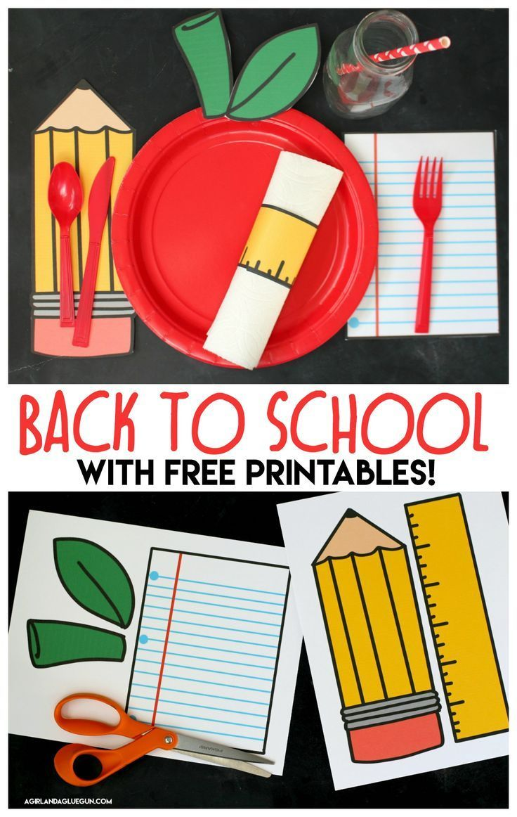 Back to school table settings with free printables - A girl and a glue gun