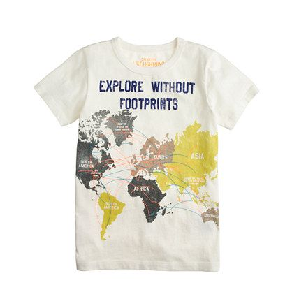 Boys' world map tee - graphic tops - Boys' graphics shop - J.Crew