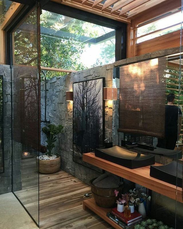 Bring The Outdoors In Watercloset Com Au For The Perfect Accessories Designbathroomsac Creative Bathroom Design Bathroom Design Inspiration Outdoor Bathrooms