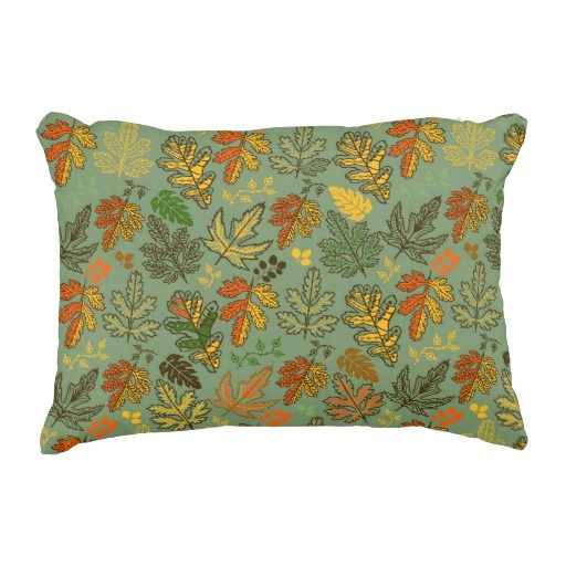 Vintage Style Throw Pillows : Vintage style autumn leaves rustic fall pattern accent pillow Accent pillows, Vintage style ...