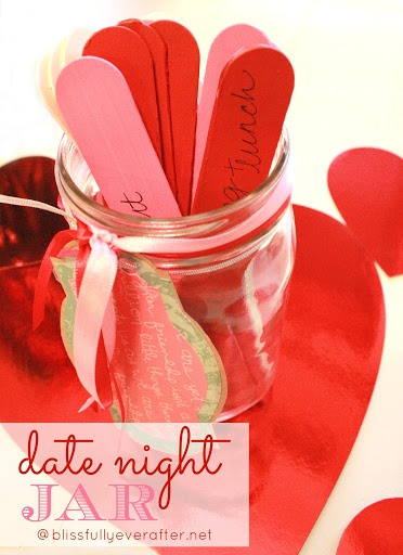 Get your bridal shower guests to write a favorite date night activity on a stick, then use these later!