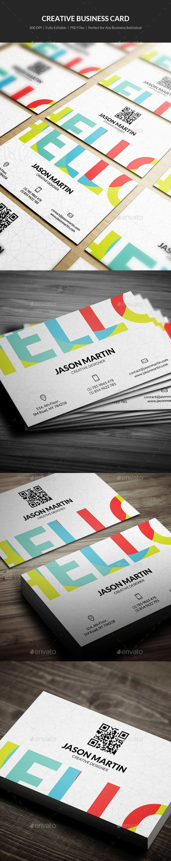 Creative Business Card  02 — Photoshop PSD #cool #beautiful • Available here → https://graphicriver.net/item/creative-business-card-02/13897806?ref=pxcr