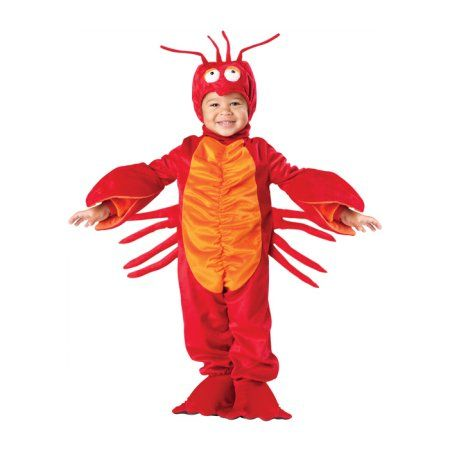 Lil' Lobster Toddler Costume, Kids Unisex, Size: Small (3T), Blue