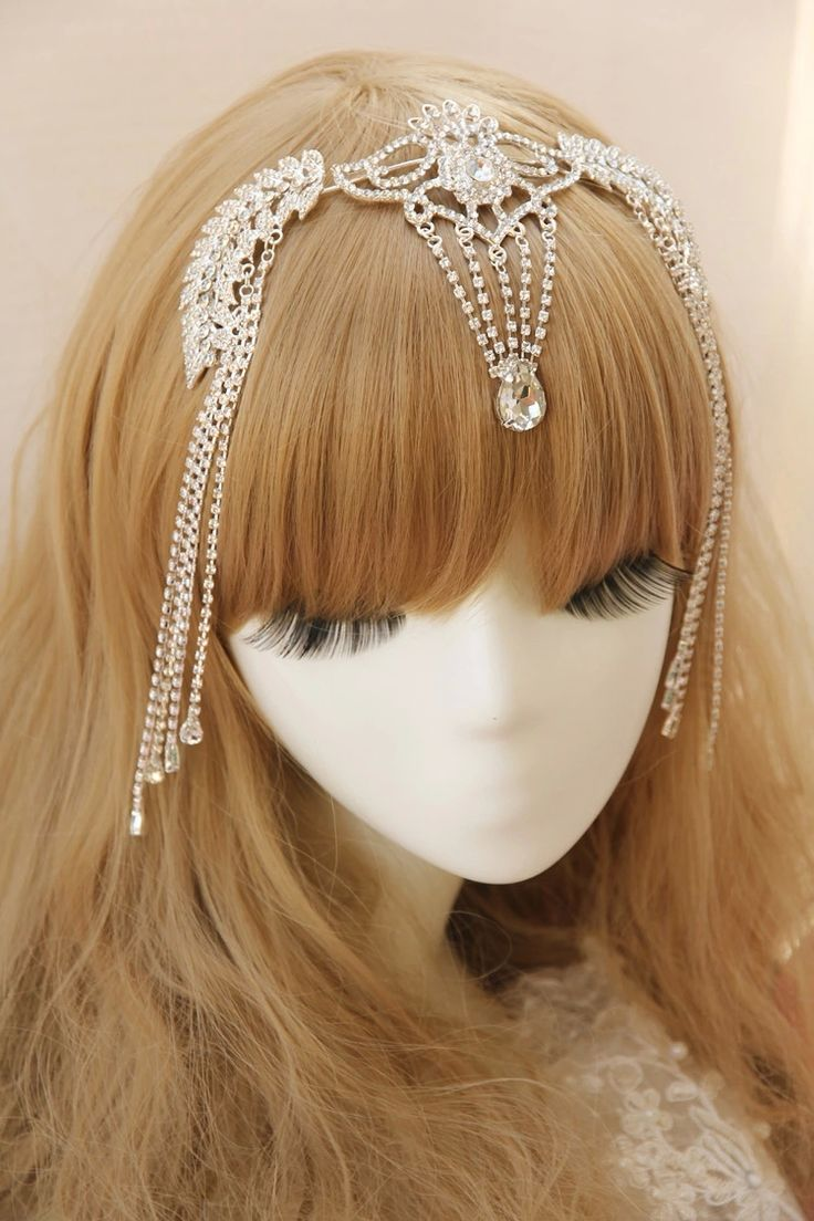 Ha hair accessories vancouver bc - Headpiece Bridal Tiara Rhinestone Crystal Hair Crown Vintage Wedding Head Jewelry Accessories Forehead Headbands Frontlet