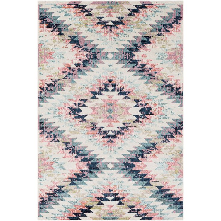 Taking a contemporary tribal-inspired vibe, our Sanaz Rug features a pretty faded effect in pretty, feminine hues.