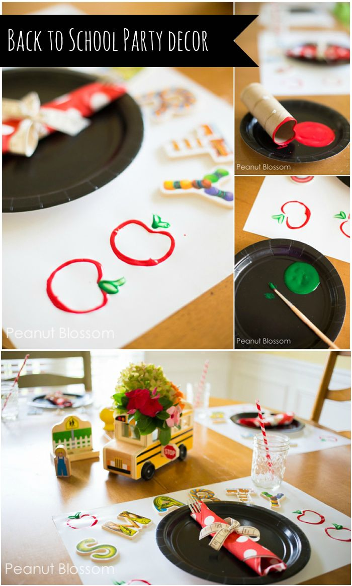 Back to School Feast: How to set an adorable table for the celebration