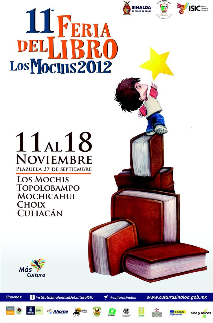 11va Feria del Libro Los Mochis 2012 del 11 al 18 de Noviembre.