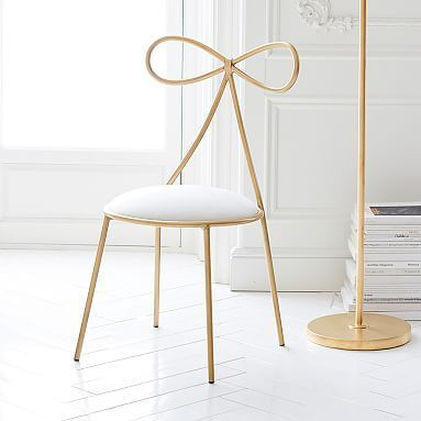 The Emily & Meritt Bow Chair #pbteen The perfect vanity chair!