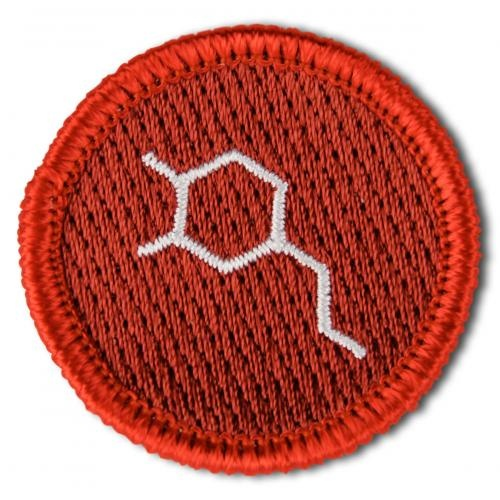 Merit Badges for Excellence in Life  No. 003: Dopamine Molecule  For believing in love