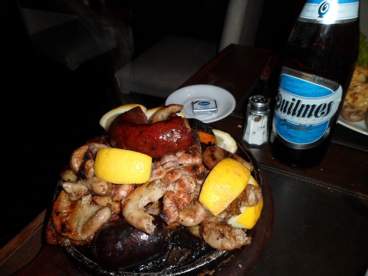 Chorizo y chinchulines + Quilmes #Argentina