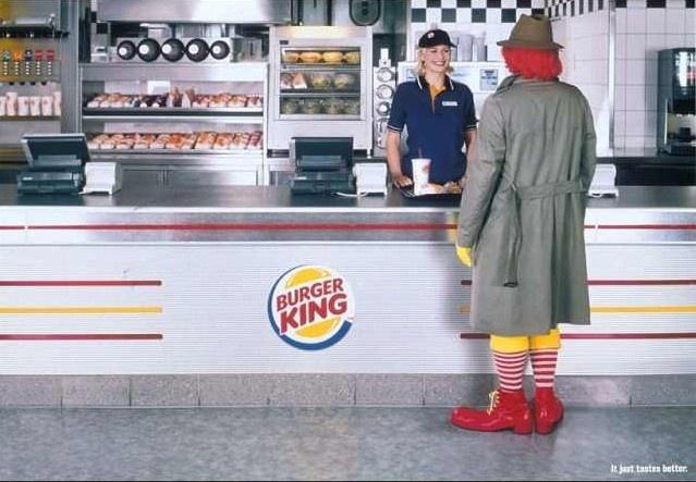 Ronald Mc Donald's prefiere Burger King