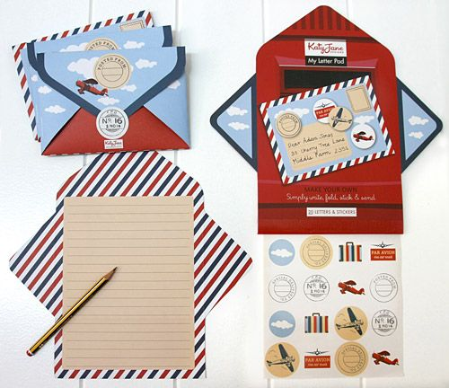 Airmail Boys Letter Writing Pad