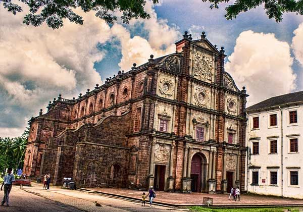Located in Old Goa, India, the Basilica of Bom Jesus is a UNESCO World Heritage Site. Basilica of Bom Jesus holds the mortal remains of St. Francis Xavier. https://www.pilgrim-info.com/basilica-bom-jesus/