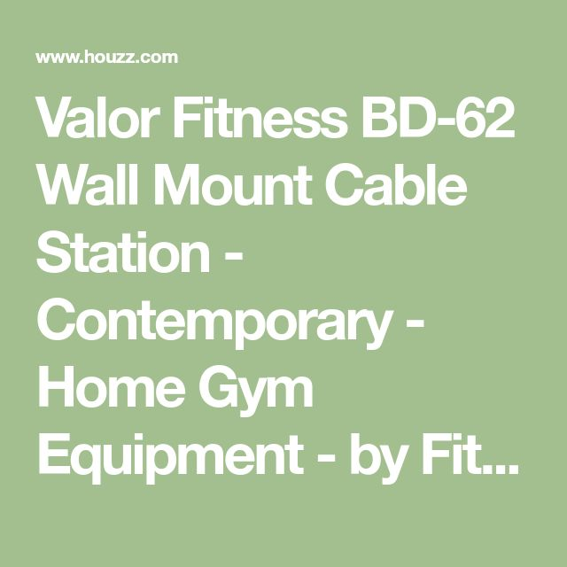 Valor Fitness BD-62 Wall Mount Cable Station - Contemporary - Home Gym Equipment - by FitnessGearUSA