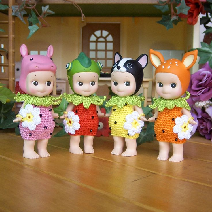 1pcs / Strawberry Romper For Sonny Angel / Sonny angel clothes by HandKnitMania…