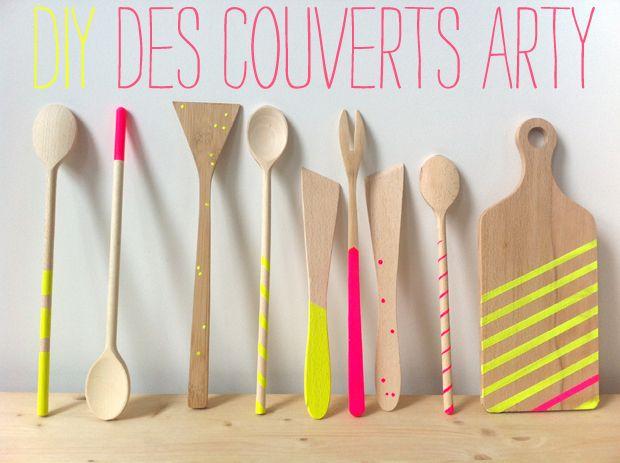 Des couverts arty par Anne Hubert #DIY #tuto
