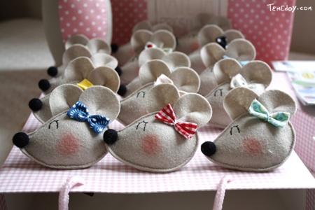 ratinhos fofos de feltro