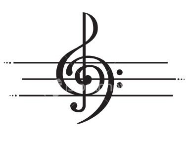 Blogthoven (via katbot) Treble clef and bass clef; together...