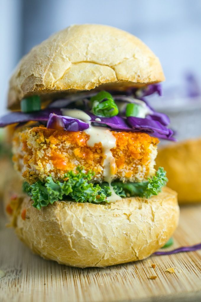 Buffalo Tofu Sliders + How to Make Tofu that Isn't Mushy   by Yup, it's Vegan.