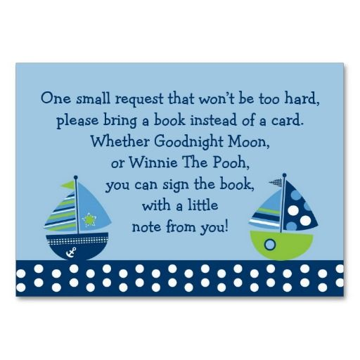 147 best book store business cards images on pinterest business sailboat baby shower book request cards business card template reheart Gallery