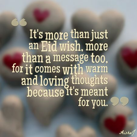eid message wish love warm thought meant you 451x450 EId Mubarak wishes 2014 Pictures Quotes Photos