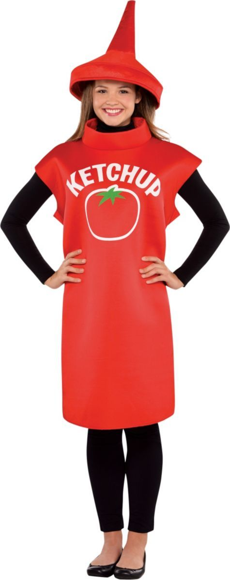 Adult Ketchup Costume Classic - Party City