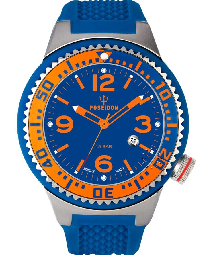 POSEIDON XXL Slim Blue Silicone Strap Τιμή: 119€ http://www.oroloi.gr/product_info.php?products_id=34083