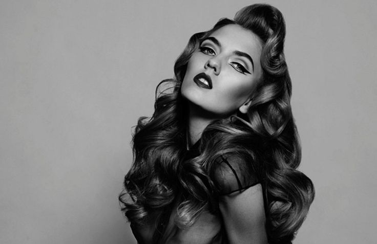 Long Hairstyles : Vintage Big Curly Hairstyles For Long Hair ...