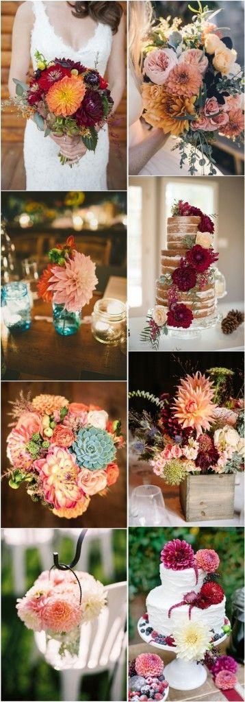 dahlia wedding ideas- wedding flower ideas